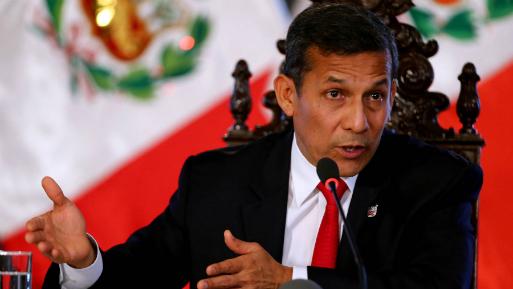 Humala se queja de falta de equidad con denunciados por corrupción en Perú