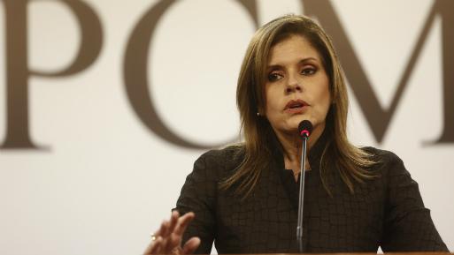 La primera ministra, Mercedes Aráoz, habló sobre la visita del Papa Francisco. (Foto: USI).