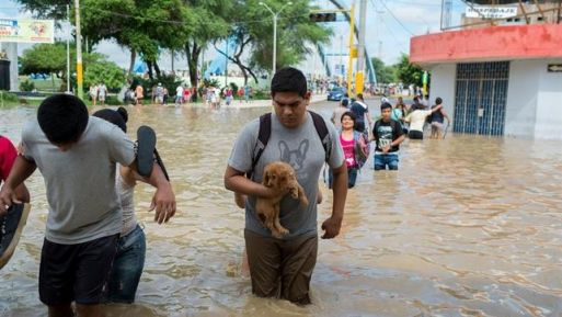 La inspección se centró en los ríos de las norteñas regiones de Piura y Lambayeque, dos de los departamentos del país más golpeados por el embate climático.