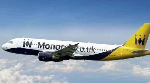 La aerolínea Monarch perdió su certificado de transporte aéreo por la quiebra. (Foto: Internet).