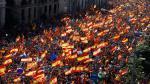 Un bosque de banderas de España cubrió Barcelona en contra de independencia de Cataluña - Noticias de barcelona