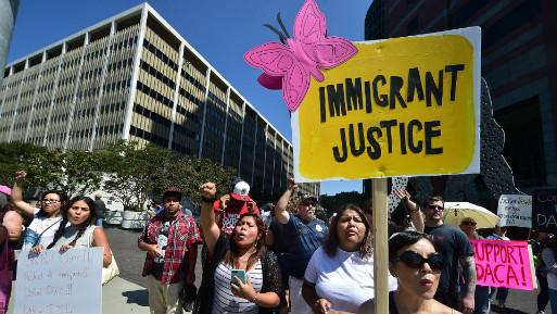 Justicia para el inmigrante, claman los dreamers. (Foto: AFP).