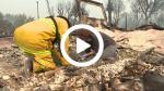 Tras incendio en California familia busca joyas - Noticias de albergue