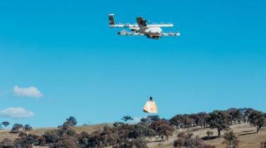 Alphabet inicia pruebas de repartos vía drones con burritos