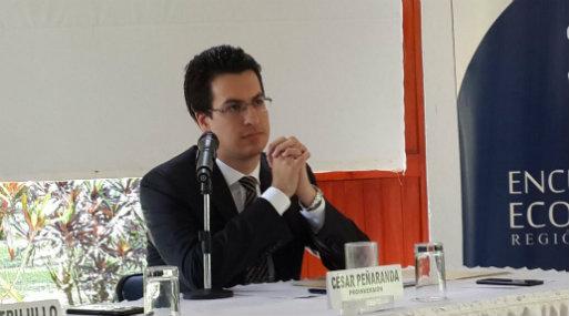 César Peñaranda participó en el Encuentro Económico en San Martín, organizado por el BCR. (FOTO: Edwin Bardales).