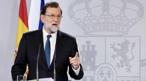Mariano Rajoy brindó hoy una conferencia de prensa (foto: AFP).