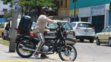 San Isidro multará con S/ 4,050 a motos y bicicletas que distribuyan balones de gas