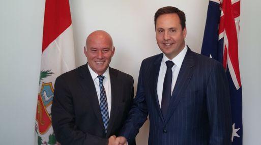 Los ministros de Comercio de Perú, Eduardo Ferreyros, y de Australia, Steven Ciobo, se encontrarán en Vietnam, (Foto: Mincetur)