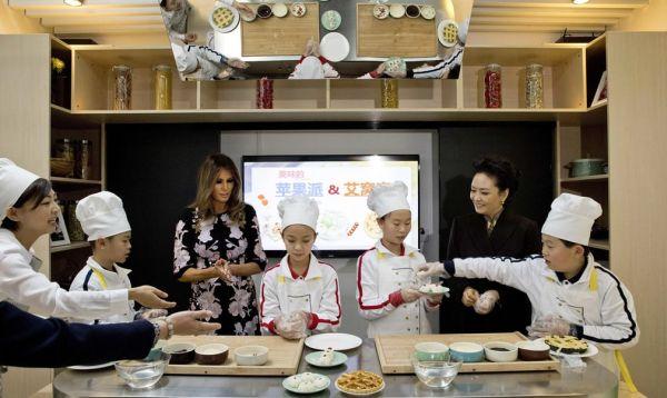 Melania Trump asistió a clases de cocina de estudiantes chinos - Noticias de