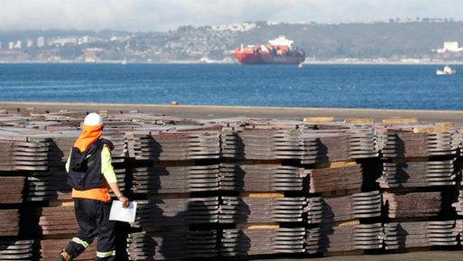 El cobre ganaba un 0.3%, a US$ 6,832.50 por tonelada, después de caer en la rueda previa a US$ 6,761.50 por tonelada.