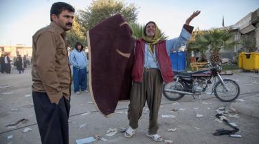 La huella del trágico sismo que azotó la frontera de Irán e Irak