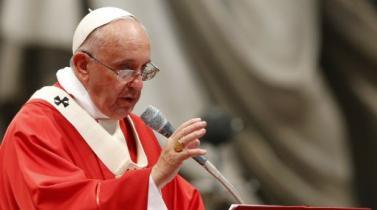 El papa pide combatir la