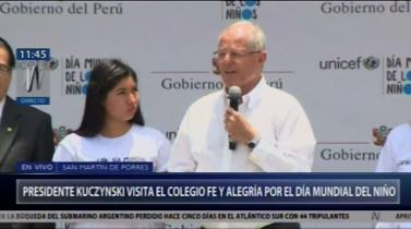 """PPK: """"Perú debe ser un país dialogante y no de enfrentamientos e insultos"""""""